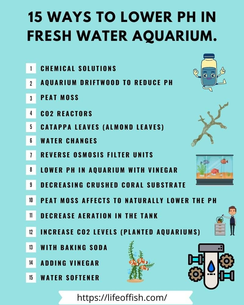 15 Ways to Lower pH in Fresh Water Aquarium infographic